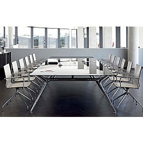 Sapphire Wide A-Frame Rectangular Glass Boardroom Tables