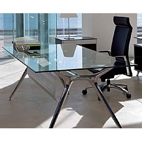 Sapphire Rectangular Glass Desks With Modesty Panel £1290 -