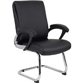 Capulet Enviro Leather Faced Cantilever Chair £163 -