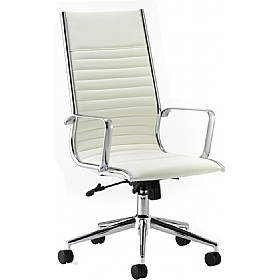 Premio Ivory Leather Faced Manager Chair