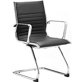 Premio Black Leather Faced Cantilever Chair £209 -
