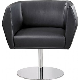 Sven HB1D Disc Base Leather Reception Chairs £711 -