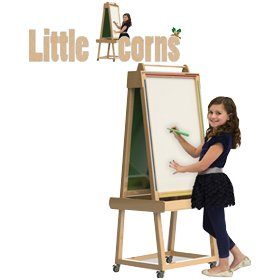 Little Acorns Solid Wood Play 'N' Learn Whiteboard/Chalkboard £286 -