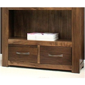 Hampshire Solid Walnut Large 2 Drawer Bookcase