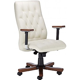 Chester Executive Leather Wood Chair