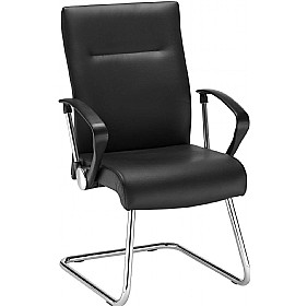 Neo Lux Leather Faced Cantilever Visitor Chair £155 -