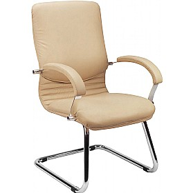 Nova Executive Leather Faced Visitor Chair £198 -