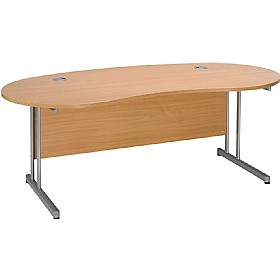 Modus Contract Cantilever Kidney Desk £298 -