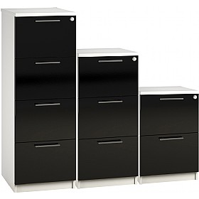 Reflections Black Filing Cabinets £228 -