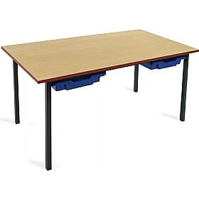 Scholar Black Frame Classroom Tables With Trays £0 -
