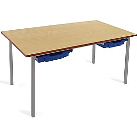 Scholar Light Grey Frame Classroom Tables With Trays £0 -