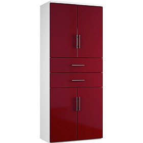 NEXT DAY Reflections Twin Double Door Combination Cupboards With Drawers