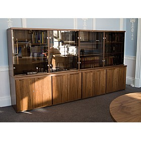 Sven Fulcrum Accent Real Wood Veneer Glass Combination Unit