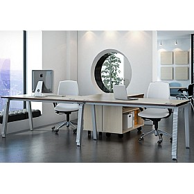 Elite Linnea Single Bench Rectangular Desks