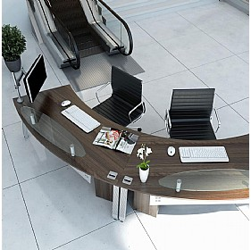 Elite Linnea Executive Radius Reception Desks £687 -