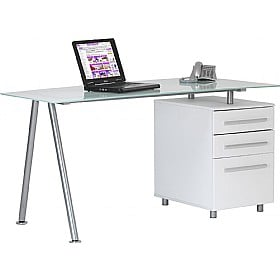 Aspen Glass Computer Desk £189 -