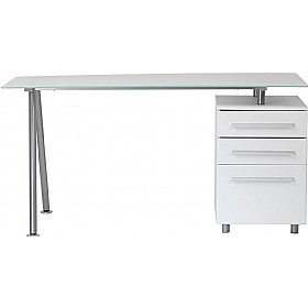 huge selection of 03b59 00a32 Aspen Glass Computer Desk