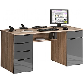 Calgary Computer Desk Oak / Grey £189 -