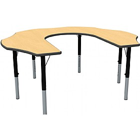 Height Adjustable Teachers Flower Theme Table £0 -