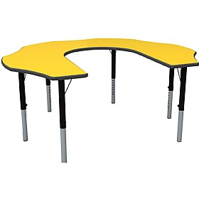 Height Adjustable Teachers Flower Primary Theme Table £0 -