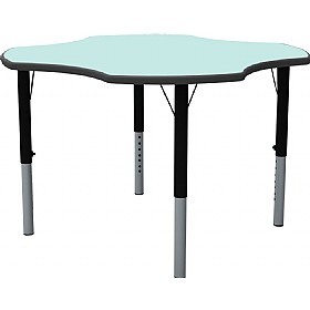 Height Adjustable Clover Pastel Theme Table £0 -