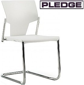 Pledge Ikon Polypropylene Cantilever Conference Chair £112 -