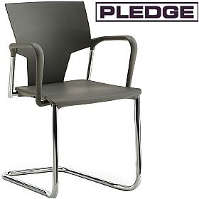 Pledge Ikon Polypropylene Cantilever Conference Armchair £131 -
