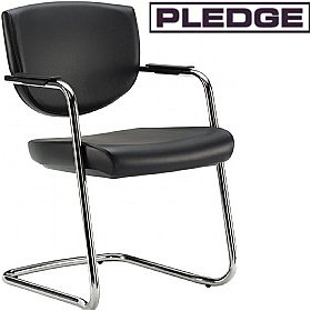 Pledge Key Low Back Stackable Cantilever Conference Chair £173 -