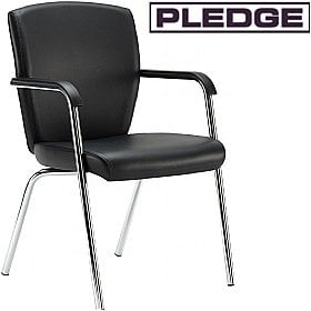 Pledge Key Full Back 4 Leg Conference Chair