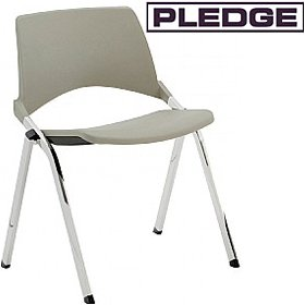 Pledge La Kendo Polypropylene Stackable 4 leg Conference Chair £118 -