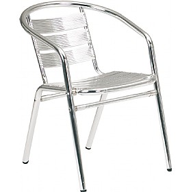 Aluminium Bistro Arm Chair (Minimum 4) £33 -