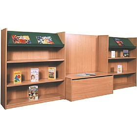 Nexus Library Bench Seat Combination Bookcases £0 -