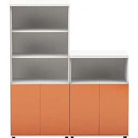 Oxide High Gloss Combination Office Cupboards £519 -