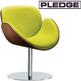 Pledge Spirit Tub Chair With Wooden Shell & Round Pedestal Base £689 -