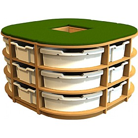 Curve Island Storage Unit