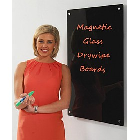 Write-On Monochrome Magnetic Glass Drywipe Boards