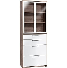 Venture in Harmony Tall Combination Glass Door Cupboard With Drawers £306 -