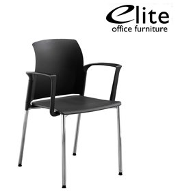 Elite Leola Polypropylene 4 Leg Stacking Chair