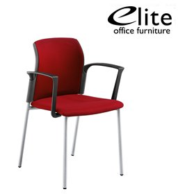 Elite Leola Upholstered 4 Leg Stacking Chair