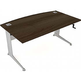 Elite Kassini Height Adjustable Bow Fronted Rectangular Desks £902 -