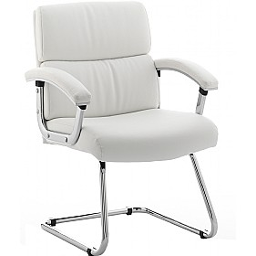 Malo Enviro Leather Visitors Chair White £173 -
