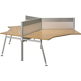 Acclaim 120° Workstation 3 Way Cluster Desks Add On With Screens £1647 -