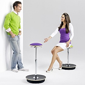 BN Belise Leather Hocker Bar Stool