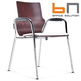 BN Leather Padded Wooden Conversa Chair £141 -