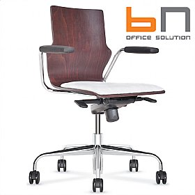 BN Leather Padded Wooden Conversa Task Chair £313 -