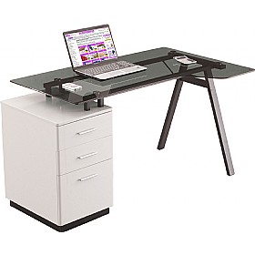 Arctic Ergo Glass Computer Desk £189 -