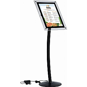 Busygrip Black Illuminated Poster Stands £210 -