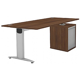 Protocol iBeam Rectangular Desk With Tambour Pedestal £495 -