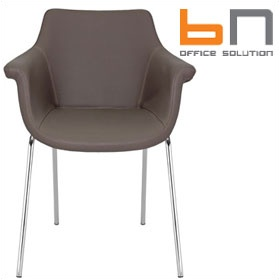 BN Kaika Faux Leather 4 Leg Conference Chair £297 -