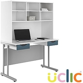 NEXT DAY Create Kaleidoscope Double Drawer Desks With Open Storage £319 -